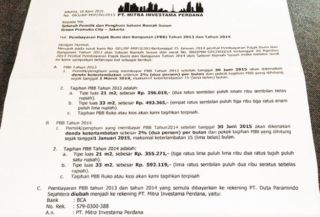 Surat edaran PBB Green Pramuka