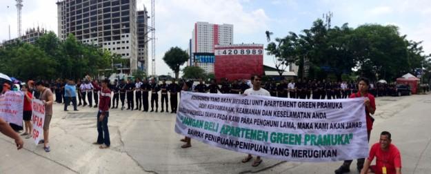 Warga Green Pramuka Demo Setiap Minggu Tanpa Henti