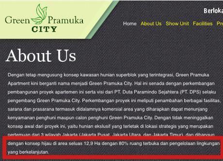 Lahan terbuka Green Pramuka yang hanya janji